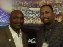 In Chicago with Evander Holyfield